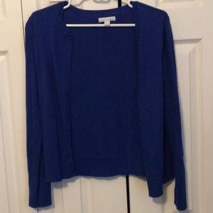 Royal blue New York and Company cardigan